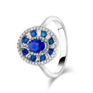 Oval Shaped Royal Sapphire Ring