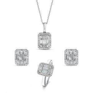 Emerald Cut Set