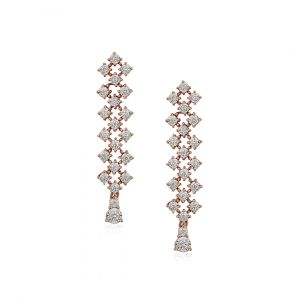 Elegant - Joie diamond earrings in 18K rose gold
