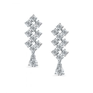 Elegant - Joie diamond earrings in 18K white gold