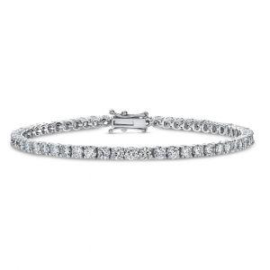 Classic Solitaire Diamond Bracelet in 18K White Gold - 4 prongs