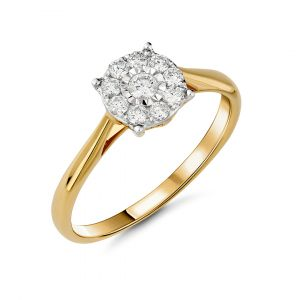 Daily wear diamond ring in 18K yellow Gold